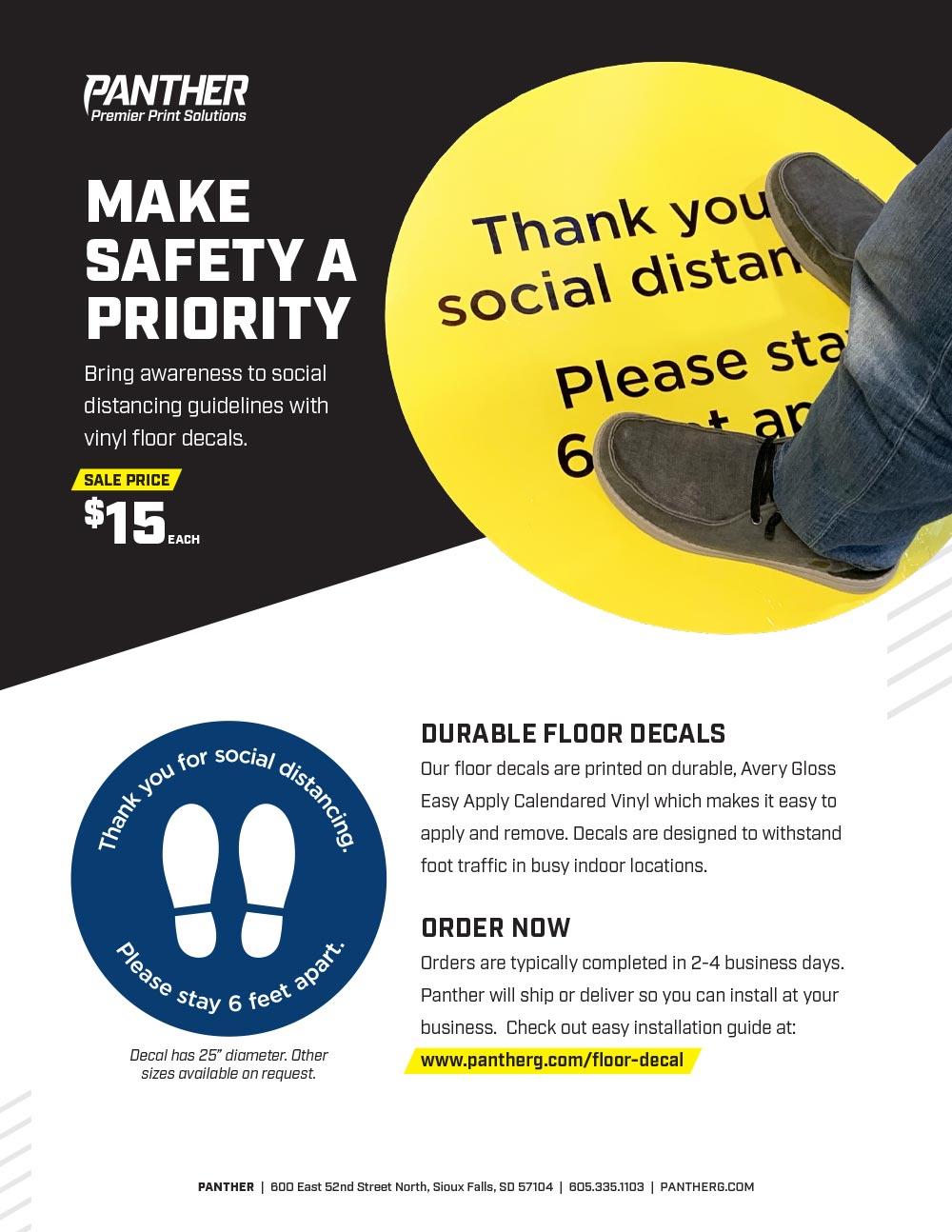 floor graphic flyer